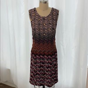Missoni Size 42 Beaded Metallic Shift Dress
